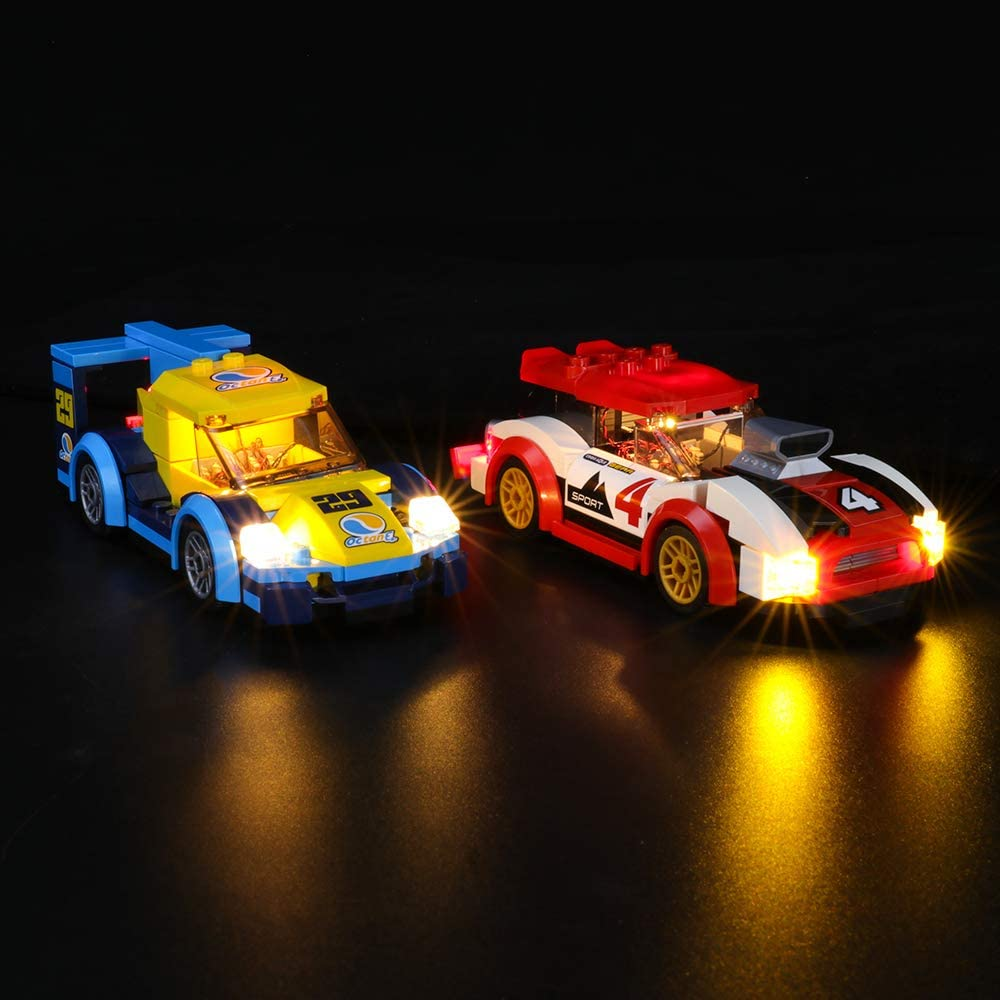 Compatible with Lego 60256 Building Blocks Model BRIKSMAX Led Lighting Kit for Racing Cars Not Include The Lego Set