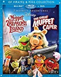 2 Muppety Adventures: The Great Muppet Caper / Muppet Treasure Island Of Pirates & Pigs [Blu-ray] by Walt Disney Studios Home Entertainment by Brian Henson Jim Henson