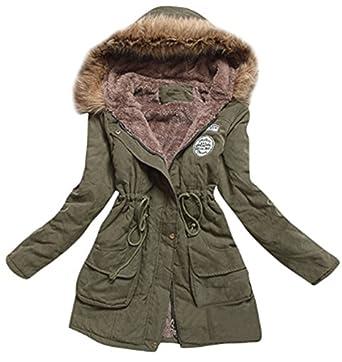 5 ALL Damen Mädchen Frauen Winter Freizeit Dicken Warme Faux Fell Kapuze  Reißverschluss Tasche gesteppt Kunstpelz gefüttert Parkas Jacke Mantel mit  Taille ... c9065024ac