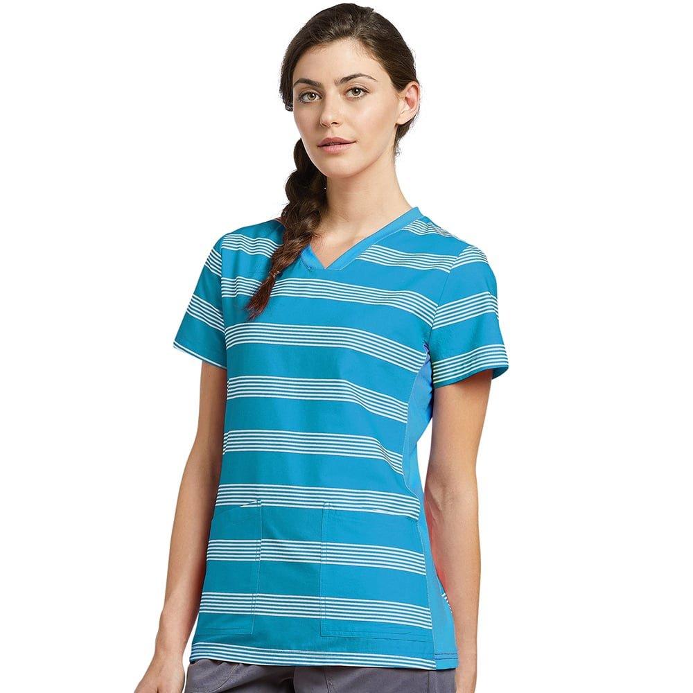 Oasis SHIRT レディース B07BR47J2F X-Small|Blue Curacao Stripes Blue Curacao Stripes X-Small
