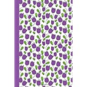 journal tulips purple 6x9 dot journal journal with dot grid paper dotted pages with light grey dots