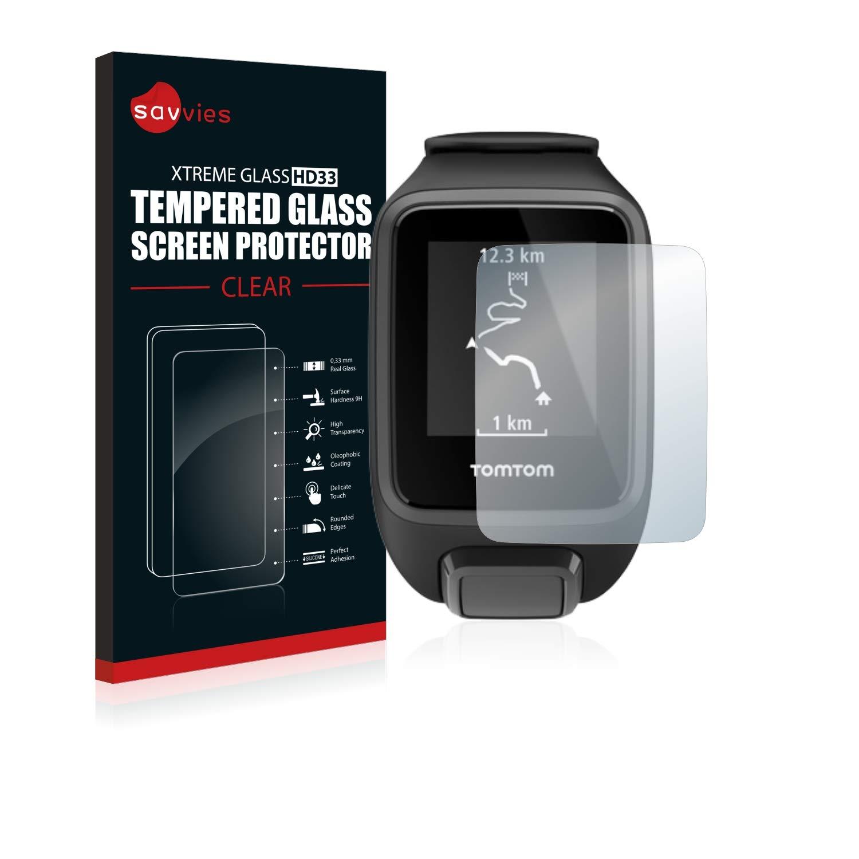 AirGlass BROTECT Protector Pantalla Cristal para Tomtom Runner 3 3 Unidades - Cristal Vidrio 9H