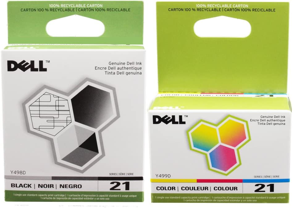 Amazon.com: Original de Dell Series 21 Cartuchos de tinta ...