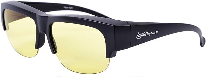 Rapid Eyewear Uberziehbrille Fur Nachtfahren Passt Uber Brillen Mit Einer Breite Bis Zu 140 Mm Kontrastbrille Mit Anti Glanz Helle Linsen Nachtbrille Fur Damen Und Herren Amazon De Bekleidung