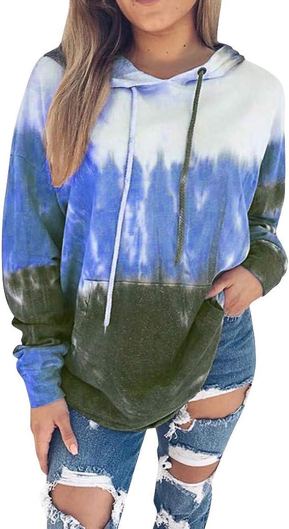 Shakumy Womens Teen Girls Long Sleeve Casual Solid Cute Hoodies Pullover Sweatshirt Tops Sweaters Shirts Blouse with Pocket