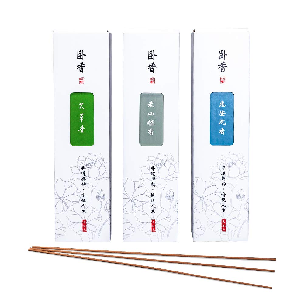 Corciosy Wormwood Incense Sticks - Light Scent Incense Perfect for Worshipping, Aromatherapy, Meditation & Yoga - 400 Sticks,8.5Inches, (AC-200g No Holder
