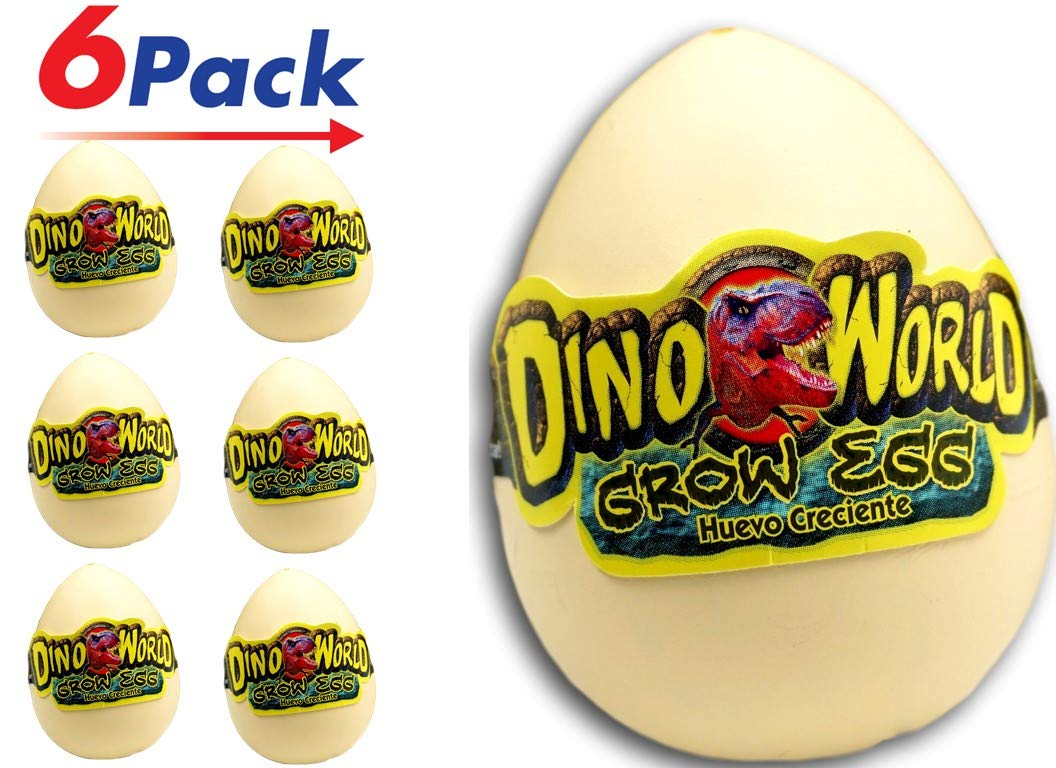 Pack of 6 Item #1745-6 Jaru JA-RU Magic Grow Hatching Egg Dinosaurs