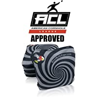 Beer Belly Bags Cornhole - Performance Series Set of 4 Bags ACL Approved Resin Filled - Double Sided - Sticky Side   Slick Side