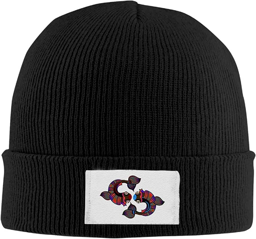 PWLLS Unisex Loving Fish Couple Cool Skull Cap Cool Beanie Head Wear Fashion For Outdoor /& Home