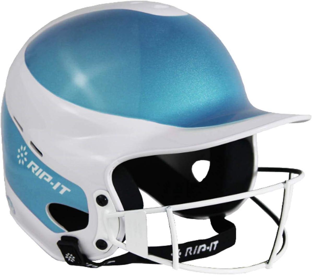 RIP-IT Vision Shimmer Softball Batting Helmet Pro Aqua M//L