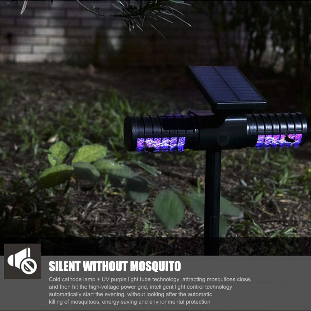 Shanglite Outdoor Solar Insect Killer Light Waterproof Garden Lamp Villa Outdoor Camping Carry Mosquito Repellent Lawn Insertion Light by Shanglite (Image #4)