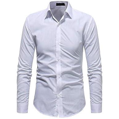 b49eb47c03c2 Lolittas Work Mens Long Sleeve Top Plain Black White Slim Fit Formal V Neck  Turn Collar Button Cotton M-XXL XXXL: Amazon.co.uk: Clothing