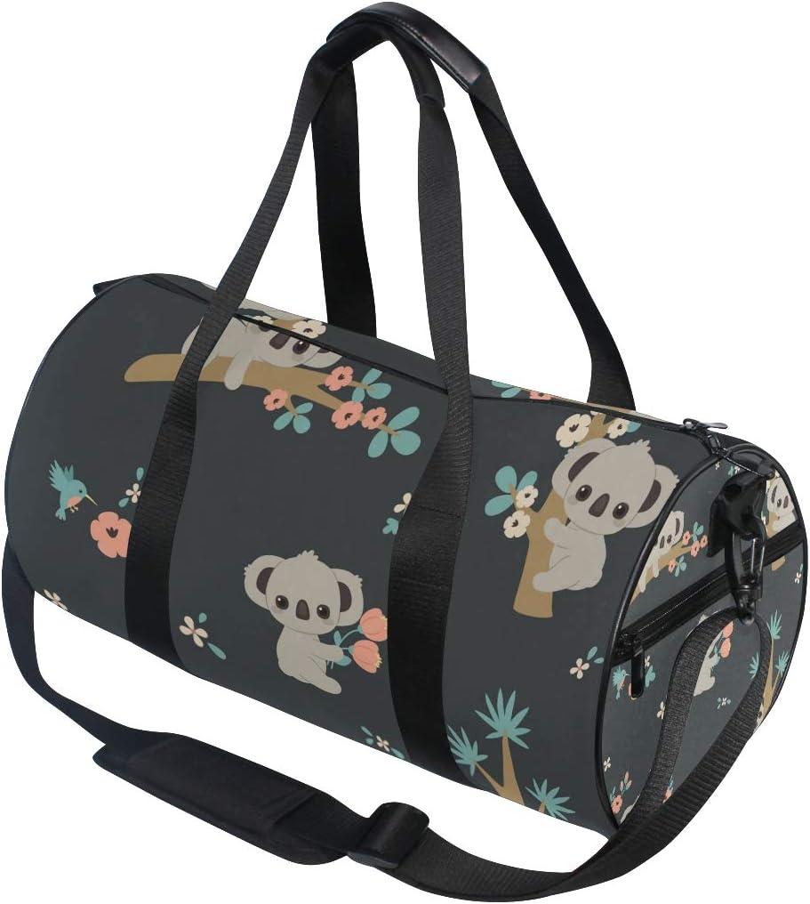 MNSRUU Bolsa de deporte para gimnasio Koala y flores equipaje de viaje para hombres y mujeres