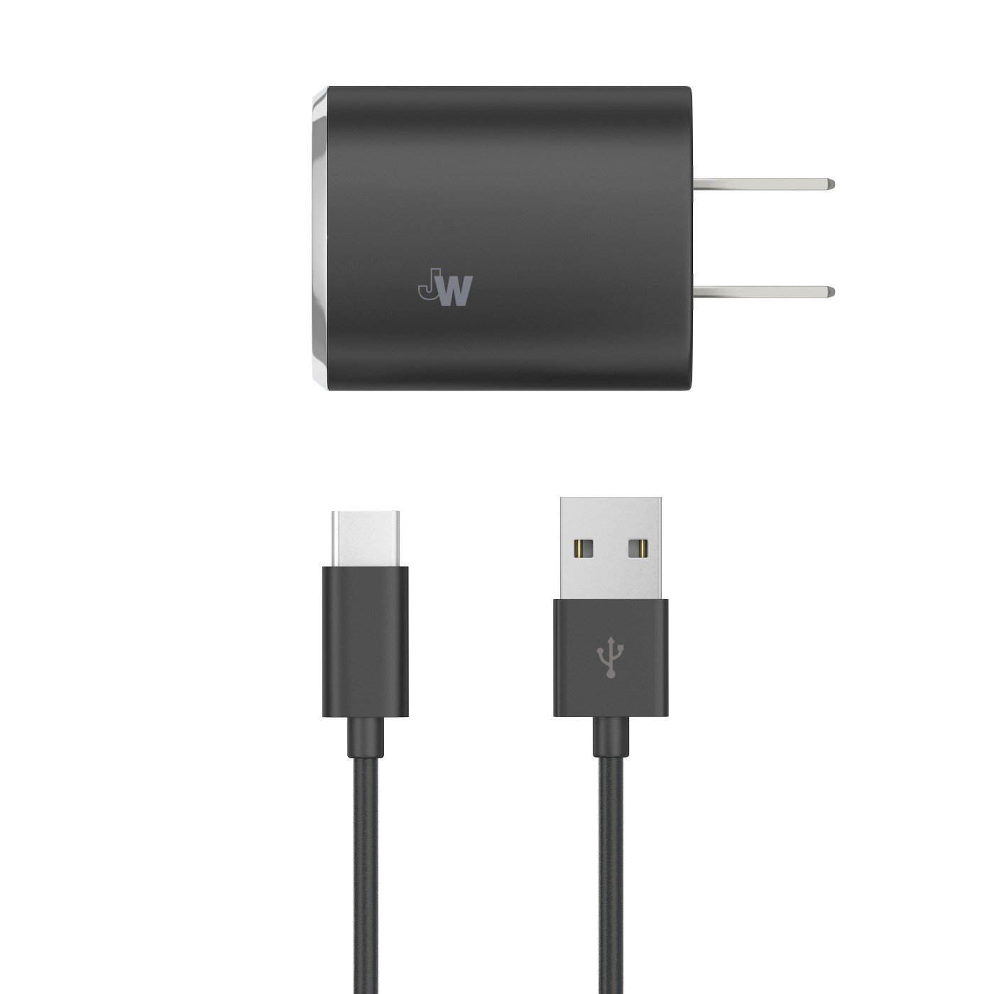 Home Charger USB Type-C Black - Just Wireless