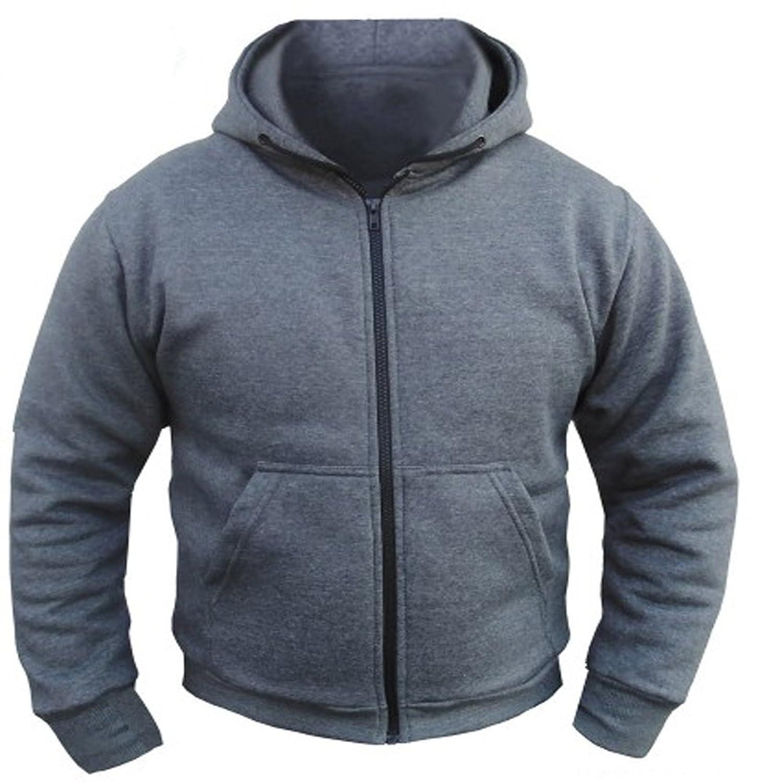 CE Armoured 100% Full Kevlar Ultimate Protection Grey Hoodie Jacket Hoody Fleece