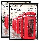 MCS Trendsetter 24x30 Inch Poster Frame (2pk), Black (65686)