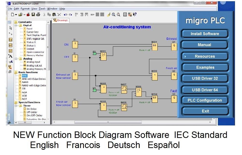 Programming Software GX DEV FX 8 25 1000 steps, ladder logic, Bonus:  training course lessons included, CD