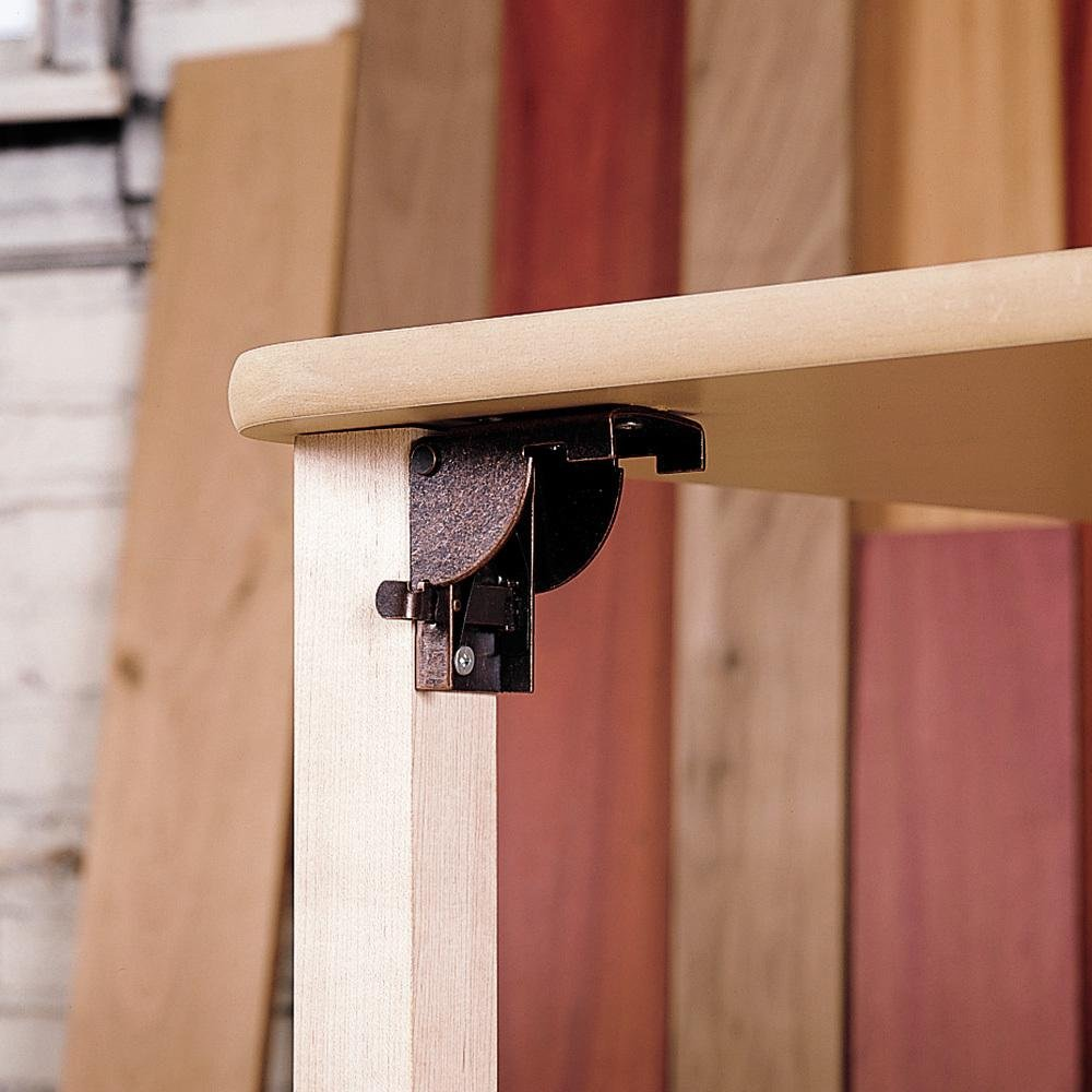 Rockler 32754 Posi-Lock Folding Leg Bracket (Pair)