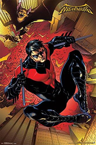 - Trends International Nightwing Jump Wall Poster 22.375