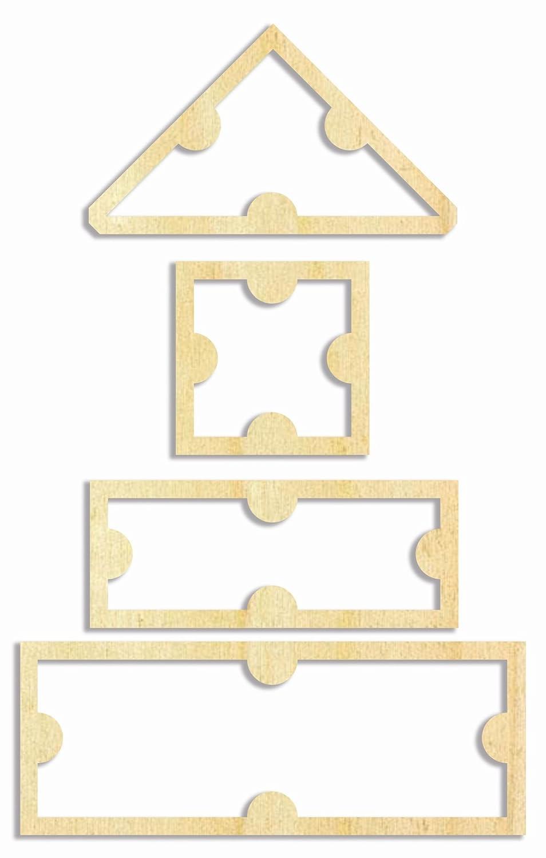 Patchwork Quilt Schablone Zuschnittschablone Muster 4 Farbklecks Collection