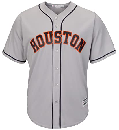 size 40 adbd7 e5f29 Amazon.com : Majestic Athletic Houston Astros Road Grey Cool ...