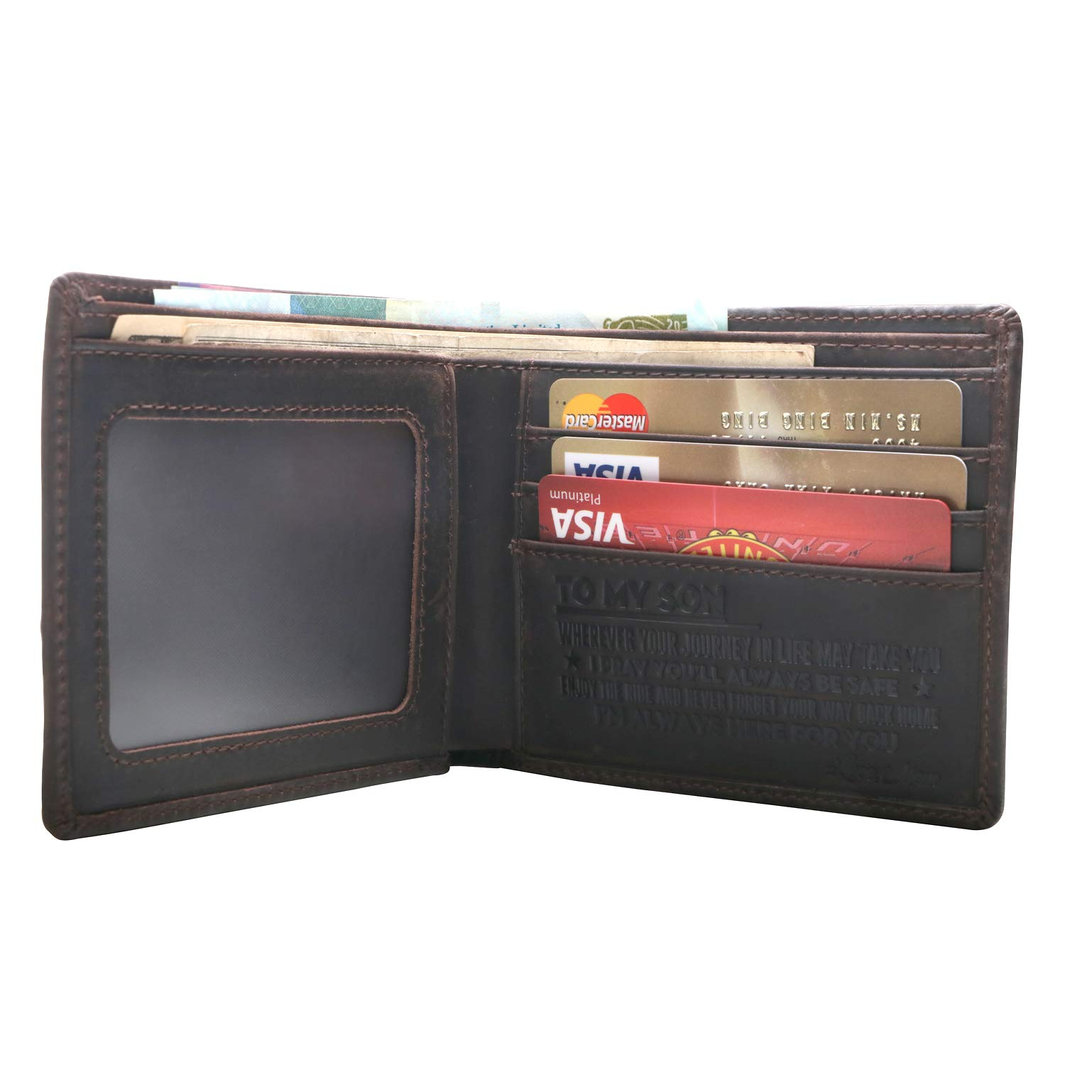 Mens Wallet -Minimalist Leather Wallets,Best Gift for your son on Birthday,Christmas Day. (1 PIECE)