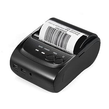 KKmoon POS-5802DD Mini impresora térmica Receipt Ticket en BT 4.0 + USB, POS impresión para iOS/Android/Windows