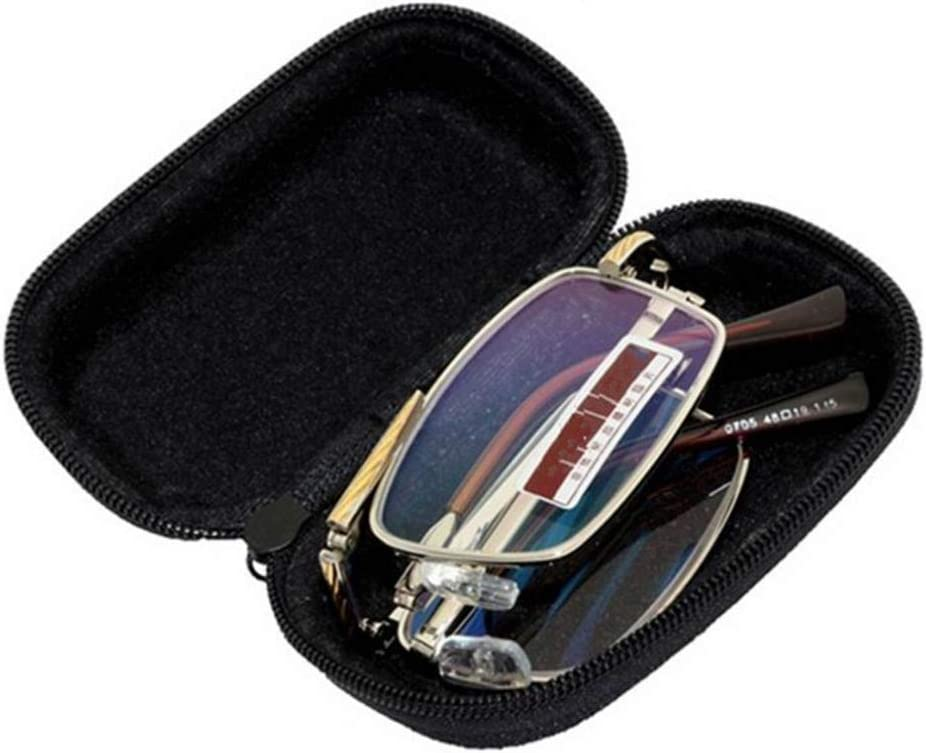 NQZWMM Portable Size Super Lightweight Men Women Folding Reading Glasses Case Foldable Glasses Storage Box Container With Zipper