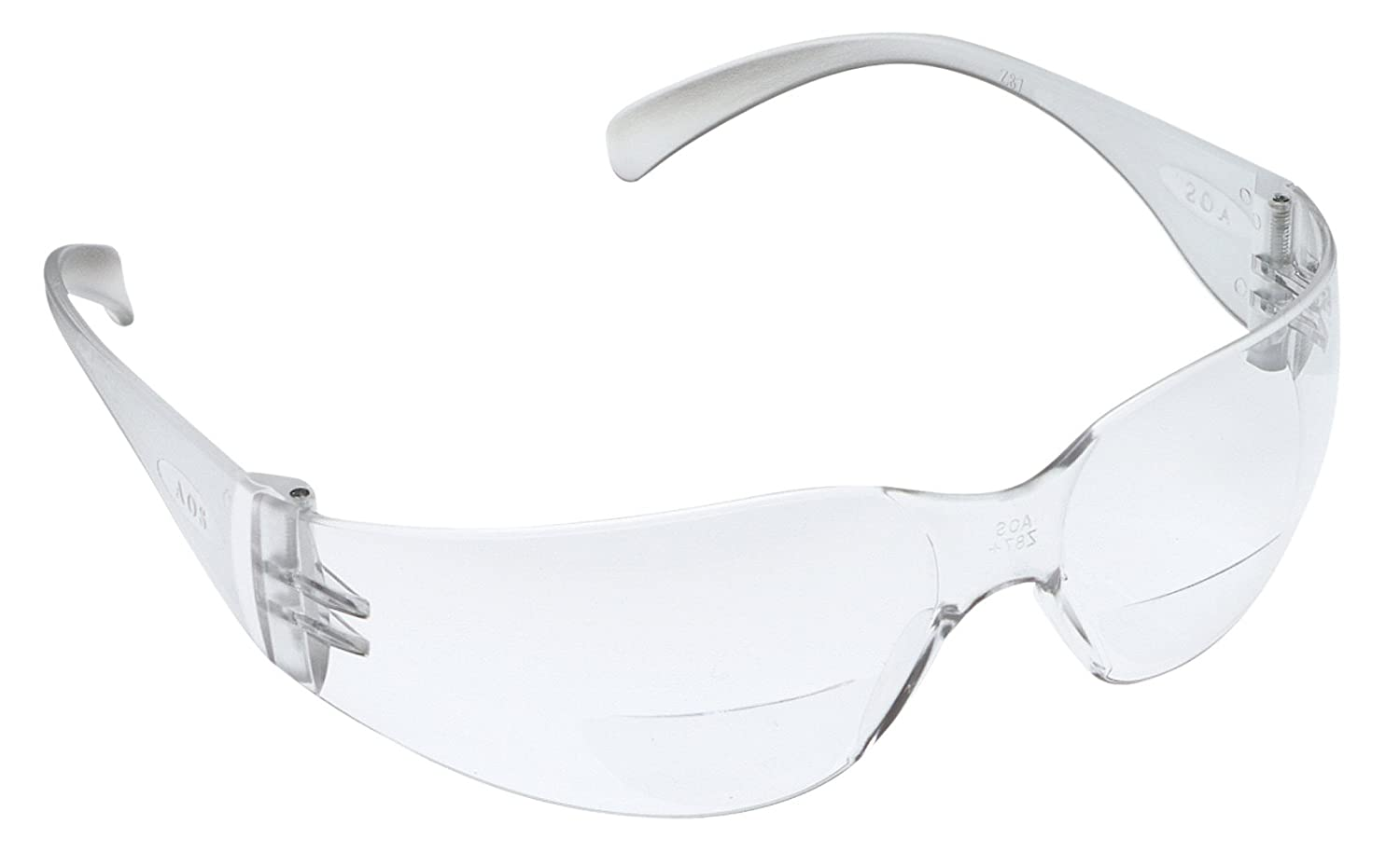 3M Virtua Reader Protective Eyewear, 11514-00000-20 Clear Anti-Fog Lens, Clear Temple, +2.0 Diopter (Pack of 20) by 3M B007JZDE98