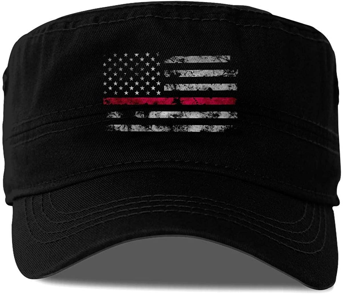 Firefighter Thin Red Line American Flag Fashion Adult Caps Unisex Snapback Military Army Cadet Cap Flat Top Sun Hats