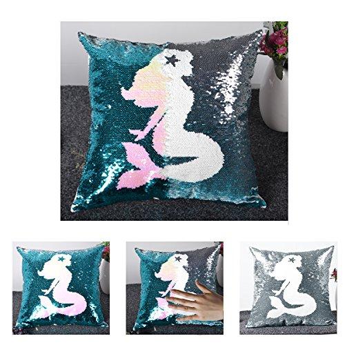 Leegleri Mermaid Magic Reversible Sequins Pillow Case, Sequi