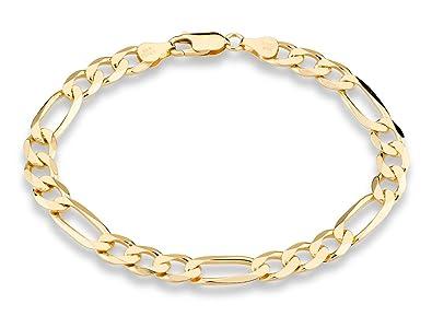Amazon Com Miabella 18k Gold Over Sterling Silver Italian 7mm Wide
