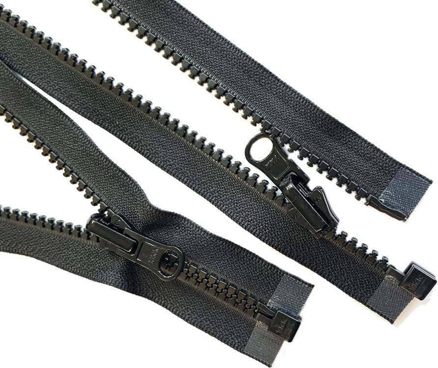 120\ VISLON ZIPPER ~ YKK #5 Molded Separating ~ Sleeping Bag ~ Black