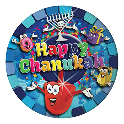 Chanukah Paper Plates 10 in a pack large 9 inch