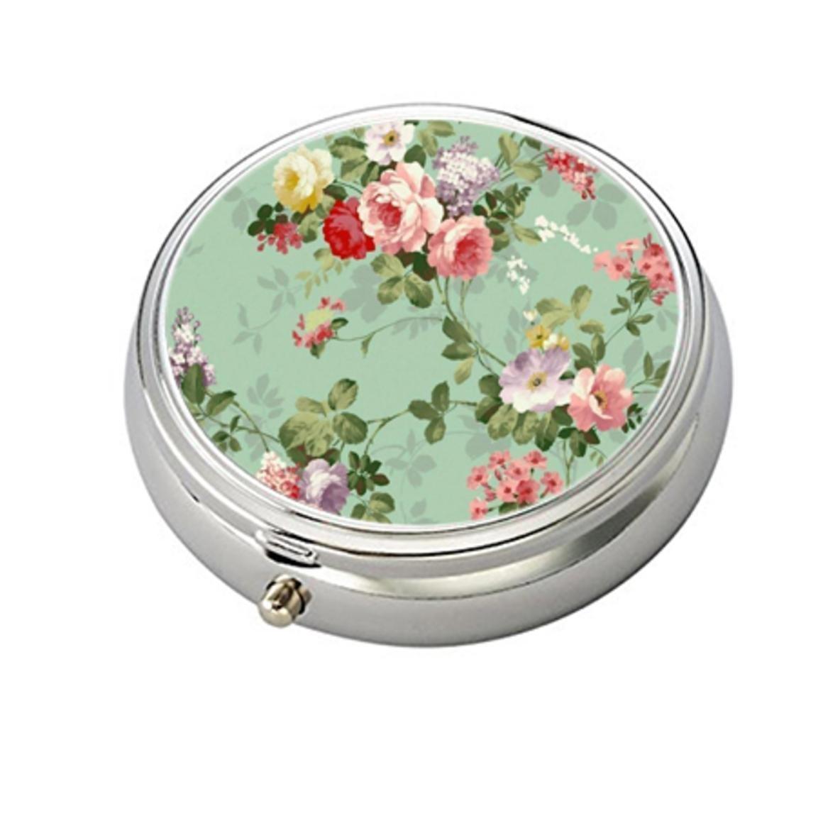 Amazoncom Vintage Floral Flowers Pattern Decorative Boxes Silver