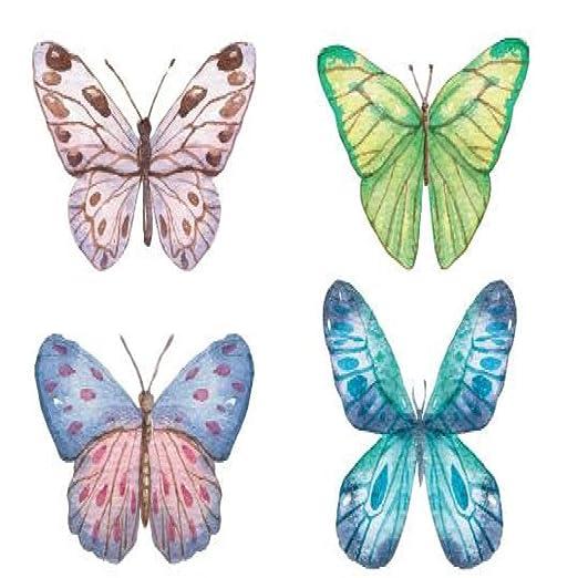 5piezas Mariposa Tatuaje Temporal Pegatina Impermeable niñas ...