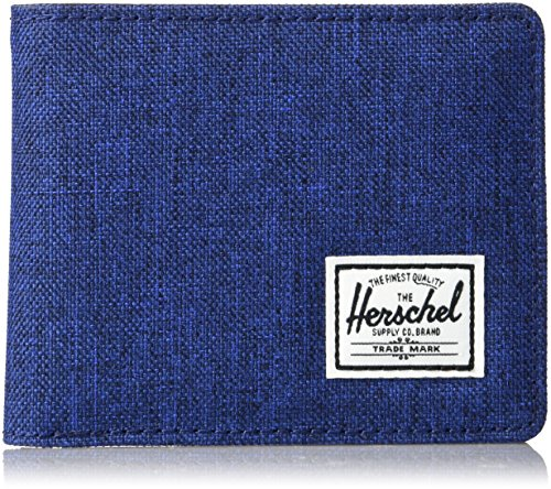 herschel-supply-co-mens-hank-wallet-eclipse-crosshatch-black-synthetic-leather-one-size