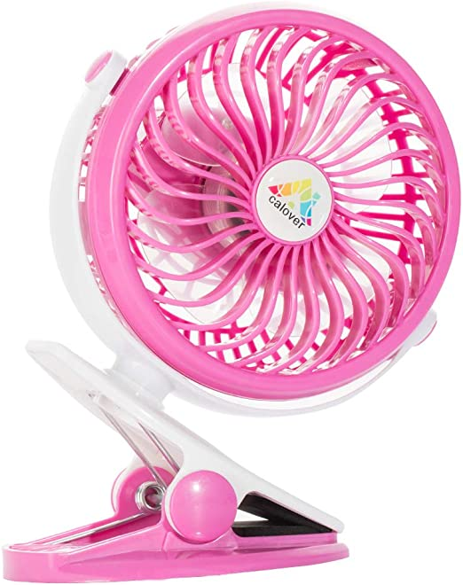 Portable USB Clip Table Desk Personal Fan Battery Operated for Car Baby Stroller