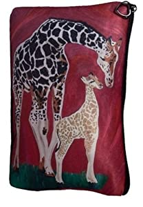 Giraffe Cosmetic Bag, Zip-top Closer - Taken From My Original Paintings (Giraffe - Full Circle)