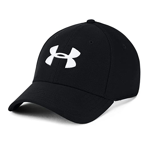 promo code 2f421 33140 Under Armour mens Blitzing 3.0 Cap, Black (001) White, Small