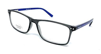 Gafas de lectura grandes hombre, mujer - con dioptría regulables 1 a 3,5. VENICE TECHMAN (Venta en Óptica) - montura azul/gris/negro y marrón - ...