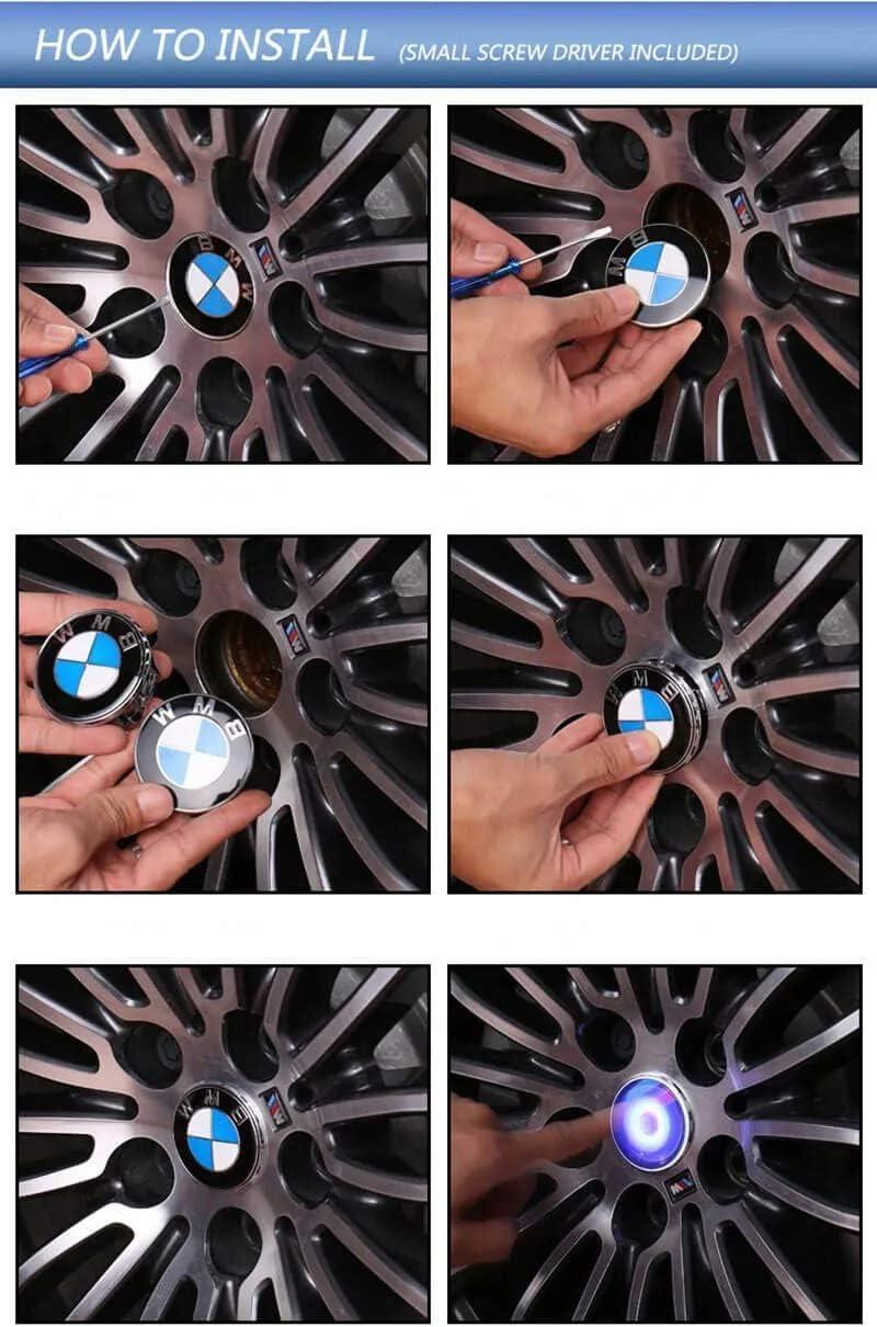 I.S.Devitar Floating LED Caps Hub Wheel Light Center Accessory ...