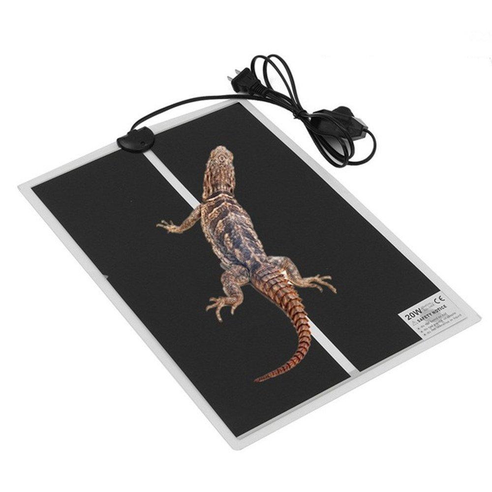 SENREAL Reptile Heating PadAdjustableTemperaturePetFishAquarium 110VHeating Mat