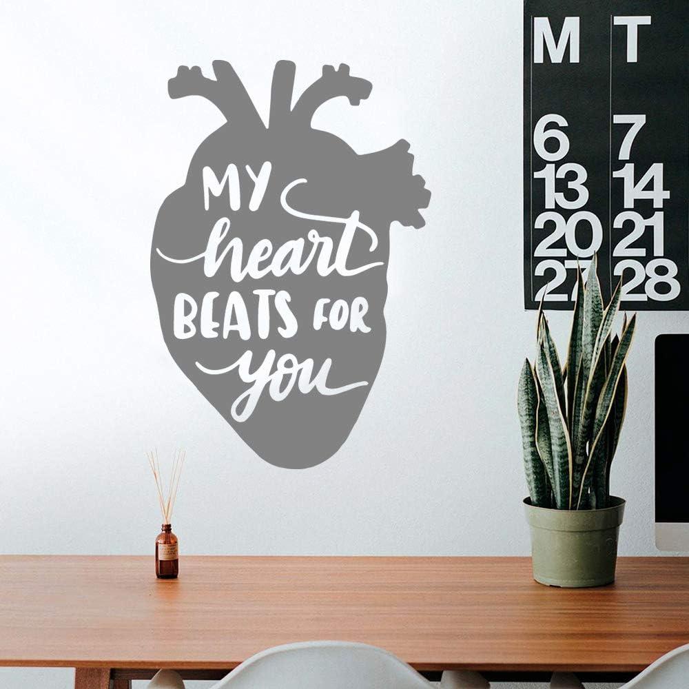 TYLPK 3D mi corazón late por ti Pegatinas de pared Pegatina ...