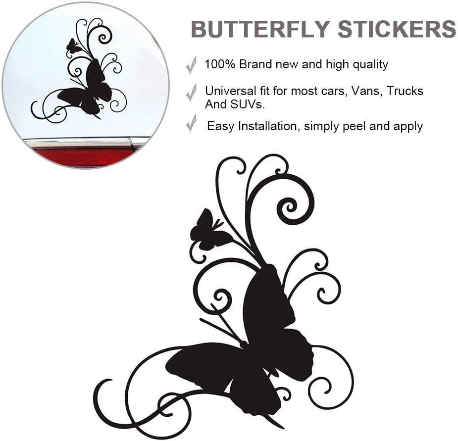 15CM Butterfly Flower Shape Car Sticker Decals,Car Rear Windshield ...