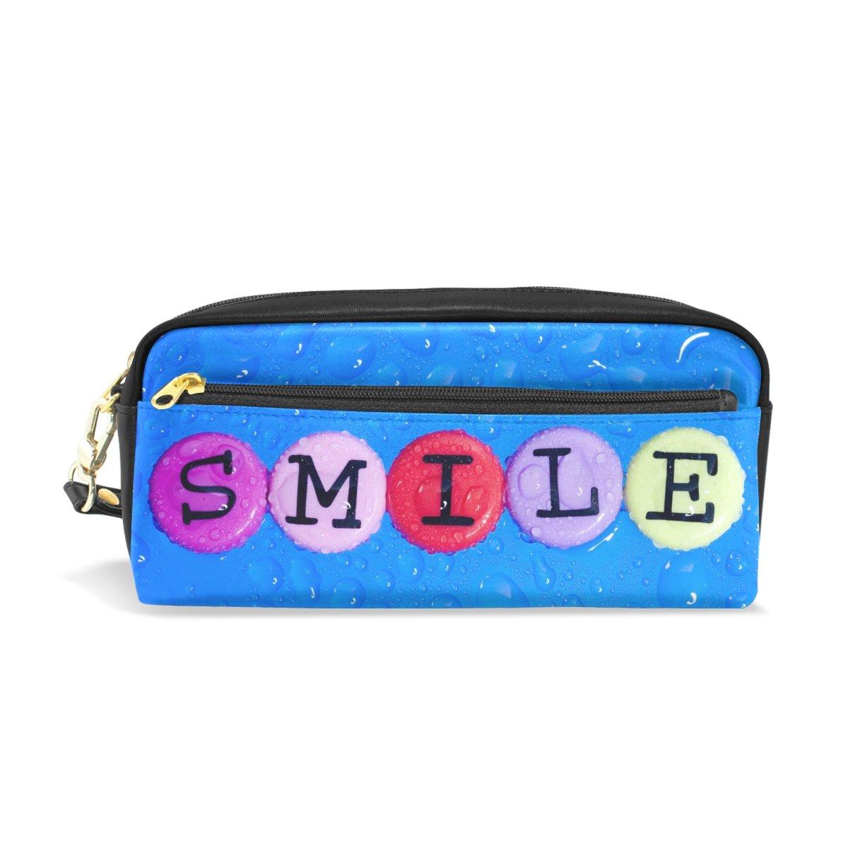 Amazon Com Merrysugar Pencil Case Smile Blue Abstract
