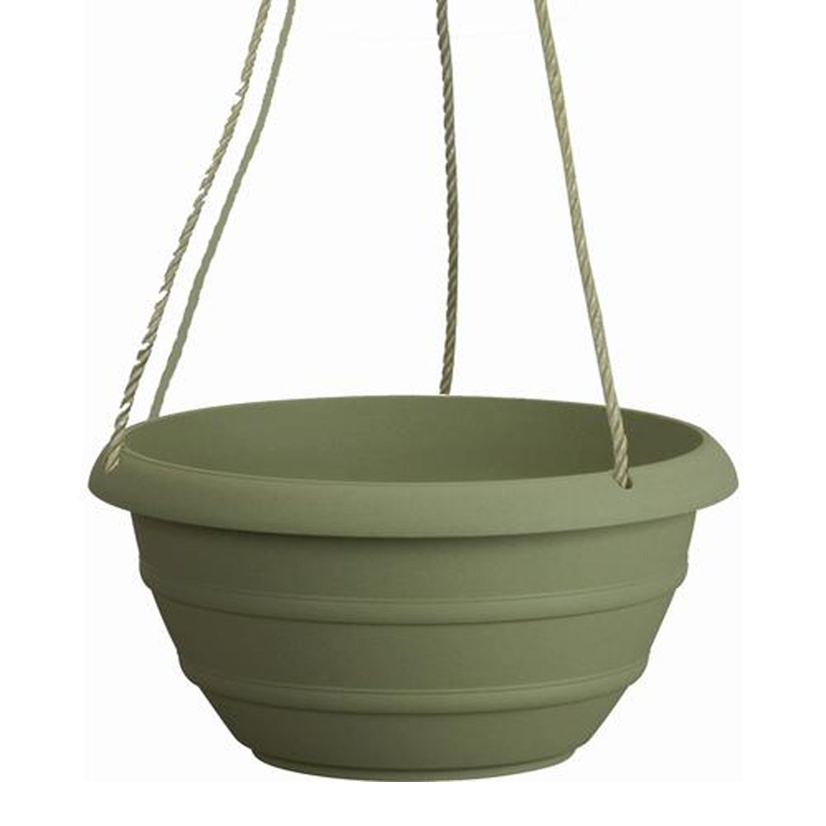 Marina Hanging Basket Resin Planter - Weather Proof Lightweight - 12'' H x 12'' W x 7'' D (Slate Green)