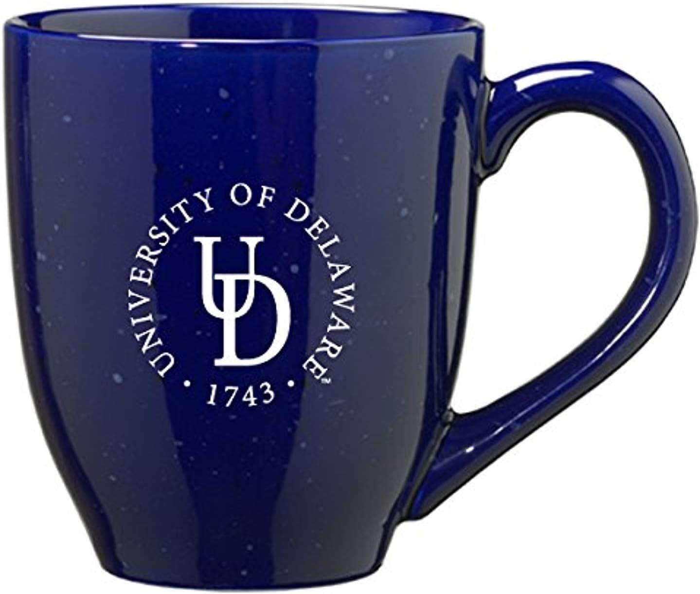 Amazon Com Lxg Inc University Of Delaware 16 Ounce Ceramic Coffee Mug Blue Sports Outdoors