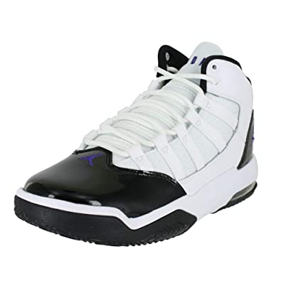 detailed look ed55a 67f14 Jordan Kids MAX Aura GS White Dark Concord Black Size 3.5
