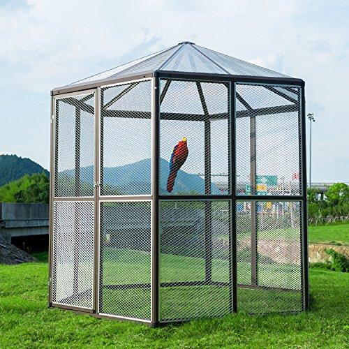 3 4 In Octagon Bird Toys : Bestmart inc large hexagonal flight bird cage walk in